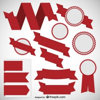 Ribbons and Labels Pack Free Vector