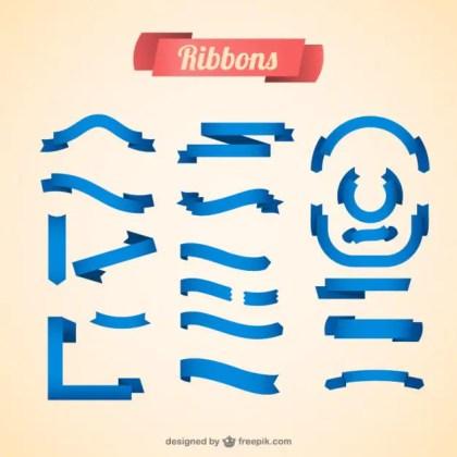 Ribbons Blue Design Free Vector