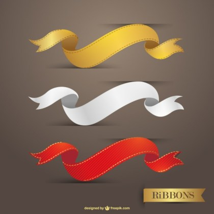 Ribbons Graphic Download Free Vector