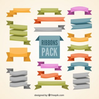 Ribbons Pack Free Vector