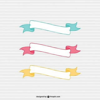 Ribbons Templates Free Vector