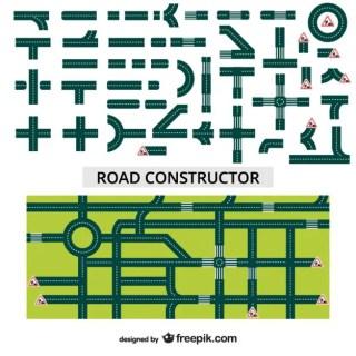 Road Constructor Free Vector