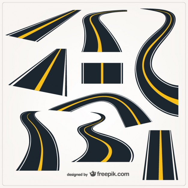 Roads Graphic Elements Free Vector