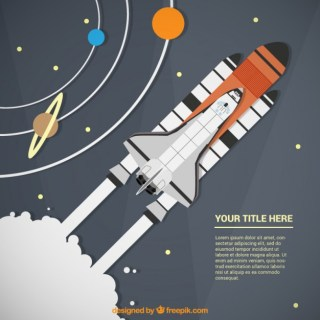 Rocket Ship Infographic Template Free Vector