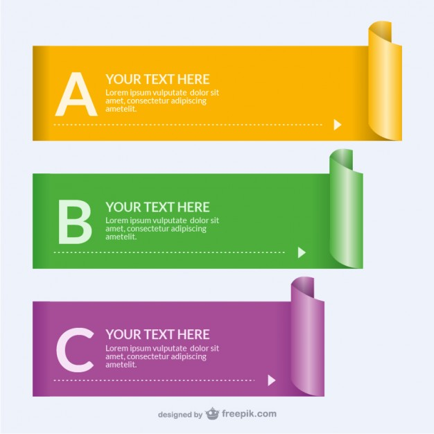 Rolled Paper Banner Templates Free Vector 123Freevectors