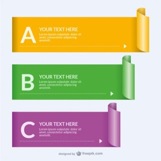 Rolled Paper Banner Templates Free Vector
