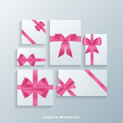 Romantic Gift Cards Templates Free Vector