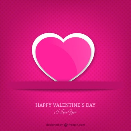 Romantic Valentines Greeting Card Free Vector