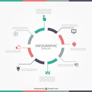 Round Infographic Template Free Vector