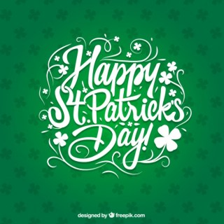 Saint Patricks Day Card in Lettering Style Free Vector