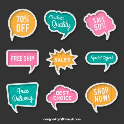 Sale Bubble Speeches Free Vector