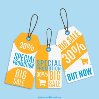 Sale Price Tags Set Free Vector