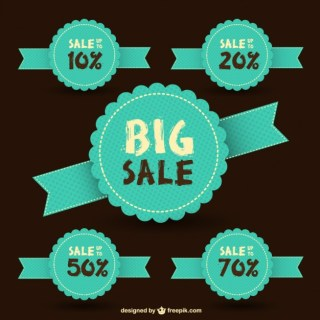 Sale Retro Stickers Free Vector