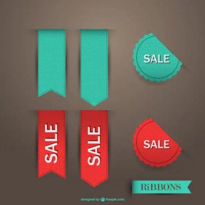 Sale Ribbon Free Vector