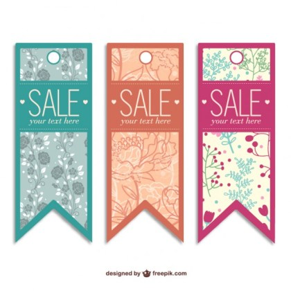 Sale Tags Templates Free Vector