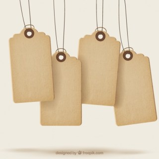 Sale Tags with Texture Free Vector