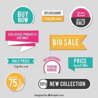 Sales Stickers Free Vector