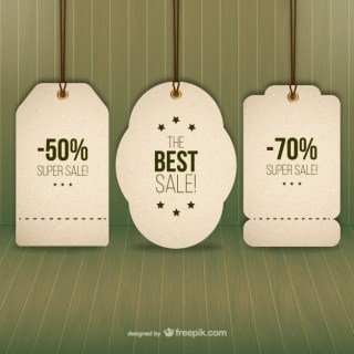 Sales Tags Free Vector