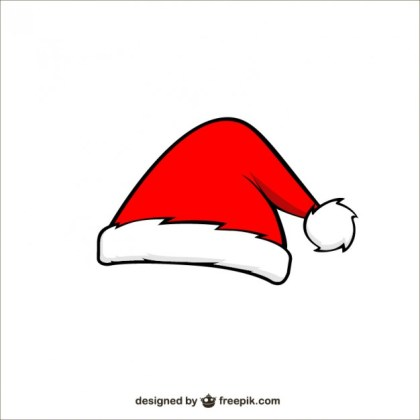 Santa Claus Cartoon Hat Free Vector
