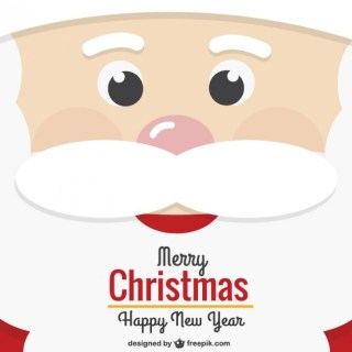 Santa Claus Face Christmas Card Free Vector