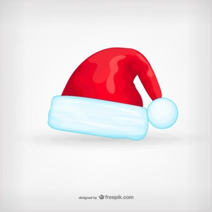 Santa Claus Hat Cartoon Free Vector