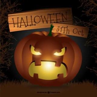 Scary Halloween Pumpkin Free Vector