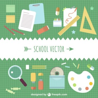 School Concept Template Free Vector