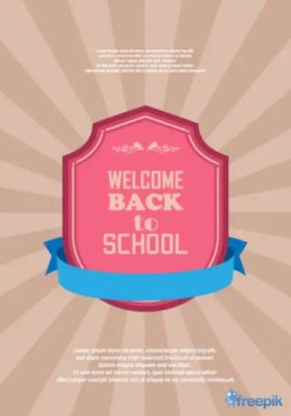 School Poster Free Vector