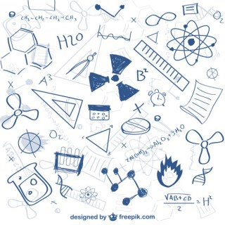 Science Doodle Pattern Free Vector