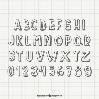 Scribble Style Alphabet Letters Free Vector