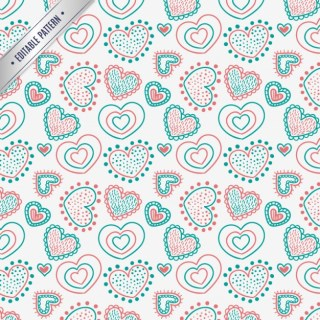 Seamless Hearts Pattern Free Vector