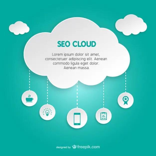 Seo Cloud Template Free Vector