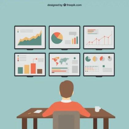 Seo Infographics Free Vector