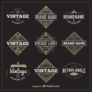 Set of Vintage Labels Free Vector