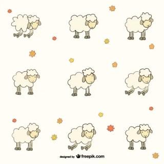 Sheep Pattern Free Vector