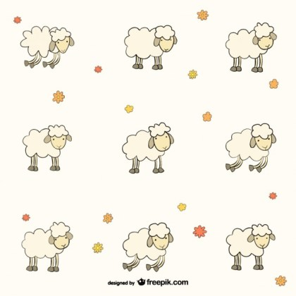 Sheep Pattern Free Vector