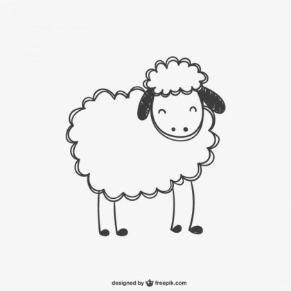 Sheep Scribble Free Vector