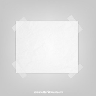 Sheet of Paper with Sticky Tape Free Vector