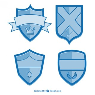 Shields Graphic Elements Free Vector