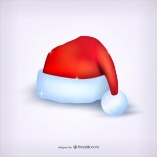 Shiny Santa Claus Hat Free Vector