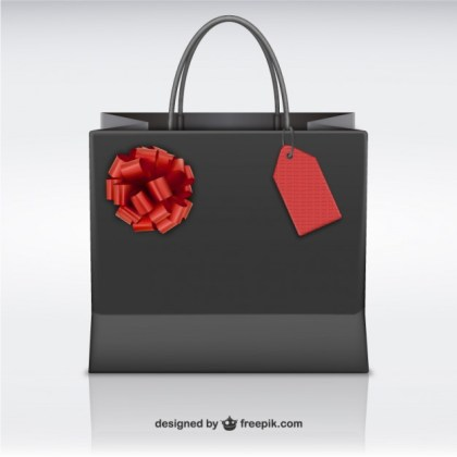 Shopping Bag for Black Friday Free Vector