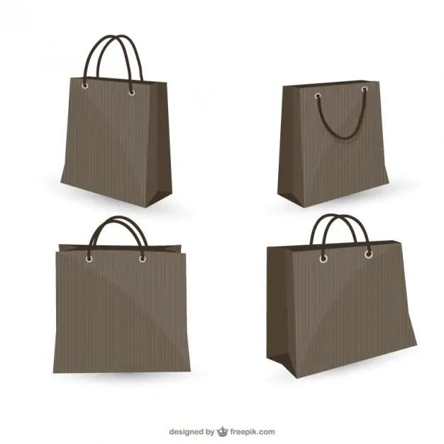Shopping Bags Set Free Vector