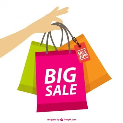 Shopping Illustration Free Vector