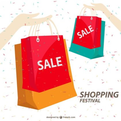 Shopping Illustration Template Free Vector