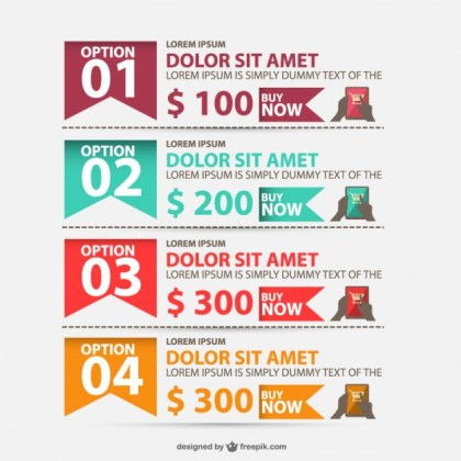 Shopping Options Infographic Free Vector