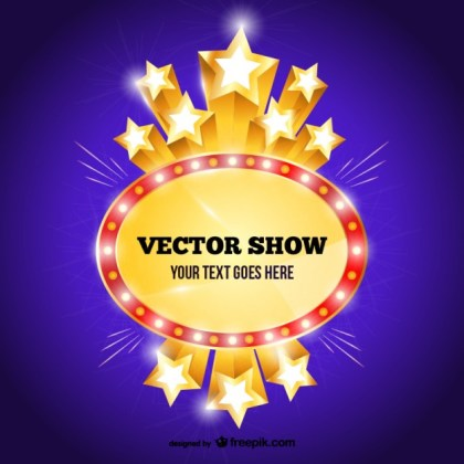 Show Sign Template Free Vector