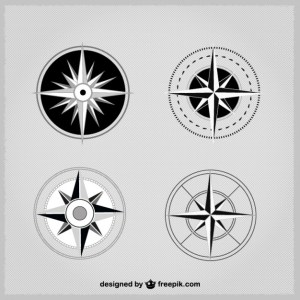 Simple Compass Pack Free Vector