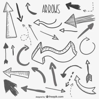 Sketchy Arrows Collection Free Vector