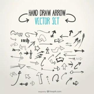 Sketchy Arrows Free Vector