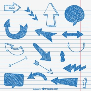 Sketchy Arrows Pack Free Vector